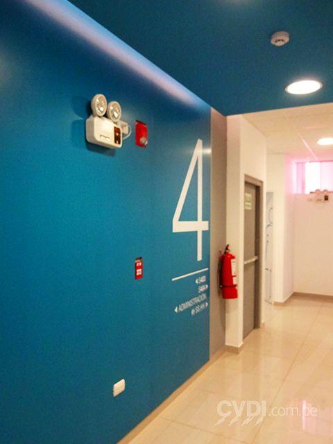Impresiones para interior del instituto Toulouse Lautrec (numeración de pisos)