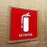 Señalética de Seguridad (Extintor) - Oficinas Grupo Brecca