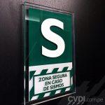 Señalética de Seguridad (Zona segura en caso de sismos) - Oficinas Grupo Brecca