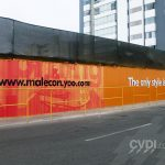 Instalación de viniles rotulados, impresiones y letras en alto relieve - Inmobiliaria CVM