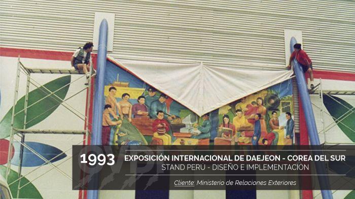 Exposición Internacional de Daejeon - Corea del Sur 1993 - Stand Perú - Diseño e implementación - Cliente: Ministerio de Relaciones Exteriores