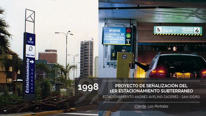 Proyecto de Señalización del Primer Estacionamiento Subterraneo - Estacionamiento Andrés Avelino Cáceres - San Isidro - Cliente: Los Portales