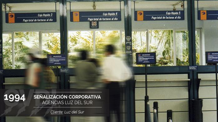 Señalización Corporativa Agencias Luz Del Sur (1994) - Cliente: Luz Del Sur